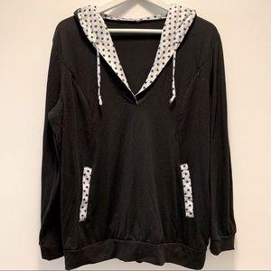 Black Nursing Hoodie Lightweight Sweatshirt